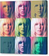 Britney Spears Pastel Warhol By Gbs Canvas Print