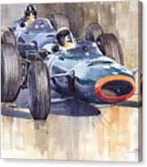 Brm P261 1965 Italian Gp Stewart Hill Canvas Print