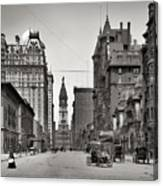 Broad Street Philadelphia 1905 Canvas Print