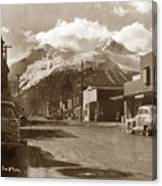 Broadway In Skagway Alaska Street Scene Circa 1957 Canvas Print