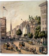 Broadway In The Nineteenth Century Canvas Print