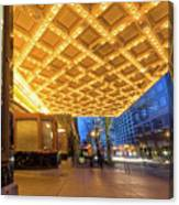 Broadway Theater Marquee Lights In Downtown Canvas Print