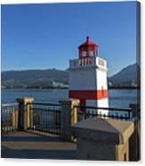 Brockton Point Lighthouse In Vancouver Bc Canvas Print