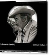 Broderick Crawford Ted Degrazias Gallery In The Sun Tucson Arizona 1969-2008 Canvas Print