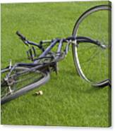 Broken Bicycle Canvas Print