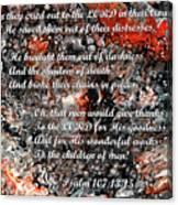 Broken Chains With Scripture Canvas Print