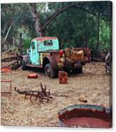 Broken Down Pickup Truck Canvas Print