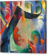 Broken Forms By Franz Marc Modern Bright Colored Painting  Canvas Print