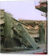 Broken Freeway Oakland Earthquake Canvas Print