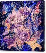 Broken Glass And A Snowstorm Canvas Print