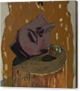 Broken Head And Meditation Ball Canvas Print