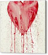 Broken Heart - Bleeding Heart Canvas Print