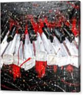 Broken Keys Red Canvas Print