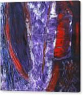 Broken Purple Heart Canvas Print