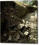 Broken Stone Wall Cascades Stones Canvas Print