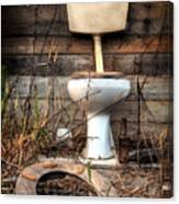 Broken Toilet Canvas Print