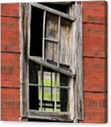 Broken Window Frame Canvas Print
