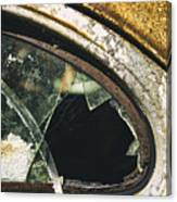 Broken Window On A Rusty Scraped Classic Car Canvas Print