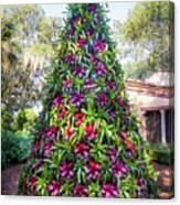 Bromeliad Christmas Tree At Pinewood Estate, Bok Tower Canvas Print