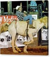 Bronc Riding Canvas Print