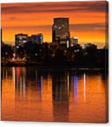 Broncos Sunrise Canvas Print