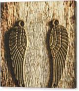 Bronze Angel Wings Canvas Print