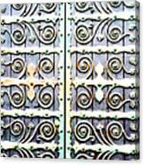 Bronze Door 5b Abstract Canvas Print