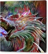 Bronze Dragon Head Canvas Print
