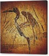 Bronze Heron Canvas Print