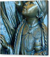 Bronze Onieda Indian Girl Canvas Print