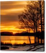 Bronze Winter Dawn Canvas Print
