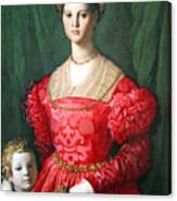 Bronzino's A Young Woman And Her Little Boy Canvas Print
