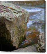 Brook And Boulder Canvas Print