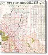 Brooklyn 1893 Map Canvas Print