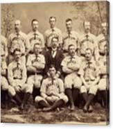 Brooklyn Bridegrooms Baseball Team Canvas Print