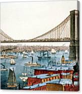 Brooklyn Bridge, 1872 Canvas Print