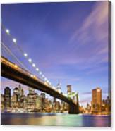 Brooklyn Bridge And The Manhattan Skyline Canvas Print