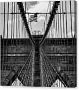 Brooklyn Bridge Bw Canvas Print