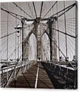 Brooklyn Bridge By Art Farrar Photographs, Ny 1930 Canvas Print