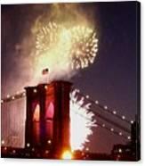 Brooklyn Bridge Celebration Canvas Print
