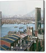 Brooklyn Bridge Circa 1904 Canvas Print