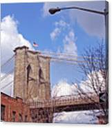 Brooklyn Bridge From Doughty Street Canvas Print