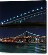 Brooklyn Bridge Full Moon Canvas Print
