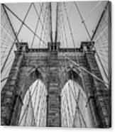 Brooklyn Bridge Goes Up Canvas Print