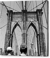 Brooklyn Bridge In Black And White Canvas Print