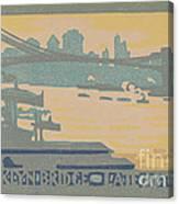 Brooklyn Bridge Late Afternoon Canvas Print