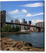 Brooklyn Bridge - New York City Skyline Canvas Print