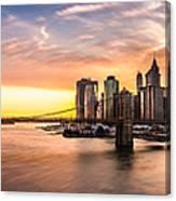 Brooklyn Bridge Panorama Canvas Print