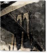 Brooklyn Bridge Reflection Abstract Canvas Print