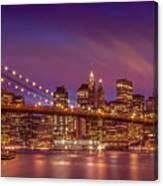 Brooklyn Bridge Sunset - Panorama Canvas Print